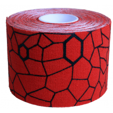 Kinesiology Tape 5cm×5m Bstandard (Hot red / Black)